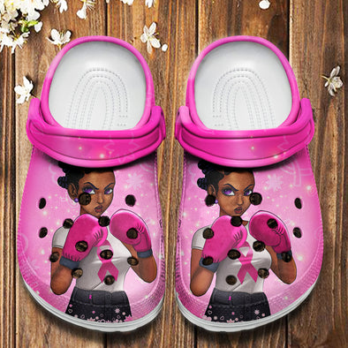 Breast Cancer Awareness - Dreadlocs Are Fighters Crocs