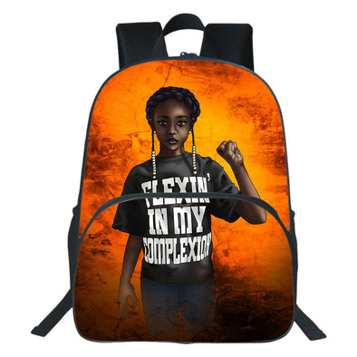 Artwork Black Kid Flexin In My Complexion Backpack