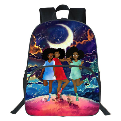 Three Cute Beauty Lovely Young Girls Friends Backpack