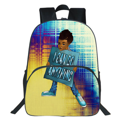 I Can Do Anything Black Boy Backpack