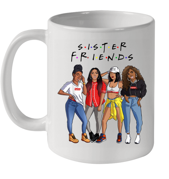African American Afro Hair Beauty Black Women Art Sister Friends Life Style Mug