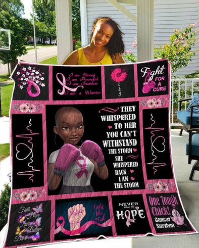 Breast Cancer Awareness Black Art Quilt Black Women Are Fighters