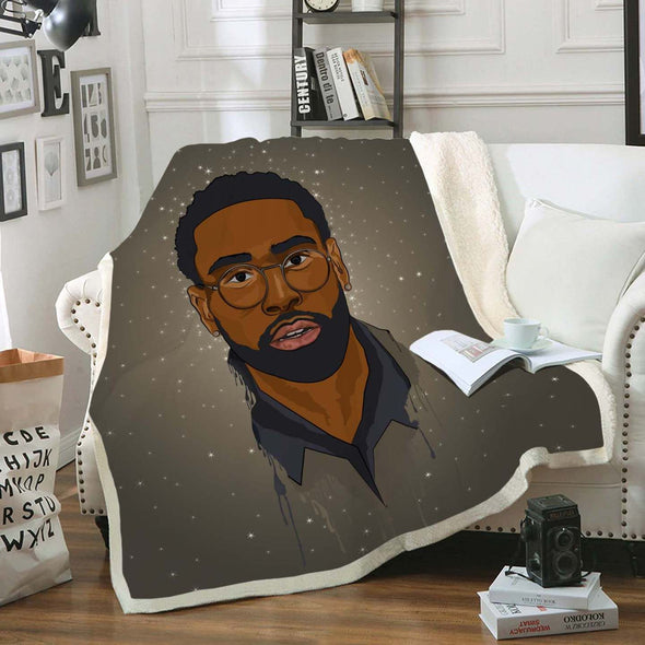 African American Man Art Fleece Blanket - Pride Be A Black Short Hair Men Fleece Blanket