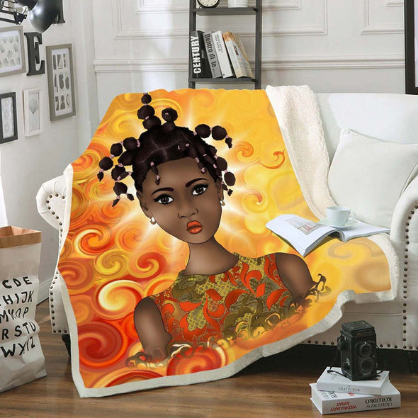 Dreadlocks Baby Art Fleece Blanket - Natural Beauty Dreadlocks Kid Fleece Blanket