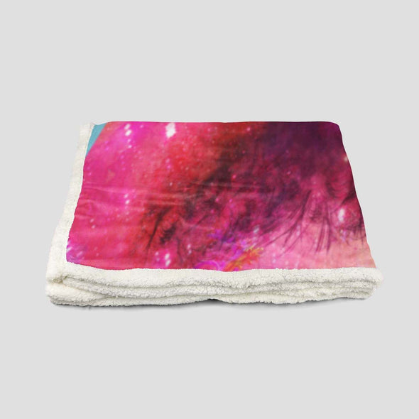 Black Girl Magic Fleece Blanket - Short Hair Pride Fleece Blanket