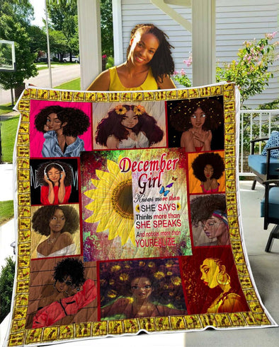 December Girl She Says She Speaks Yourealize Quilt