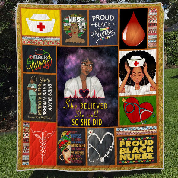 Black Girl Nurse Quilt