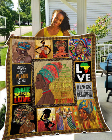 I Am The Storm Black Girl Quilt