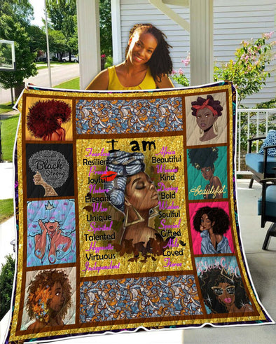 I Am Black Women Quilt