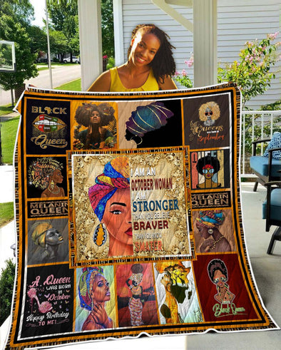 I Am An October Woman Quilt
