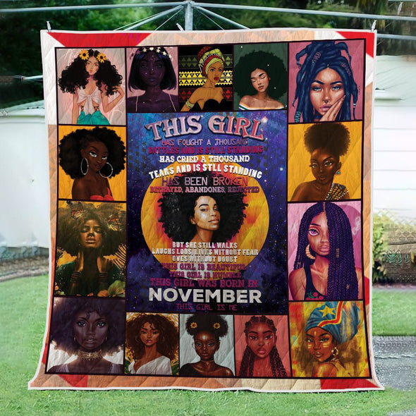 November This Girl is Me Quilt