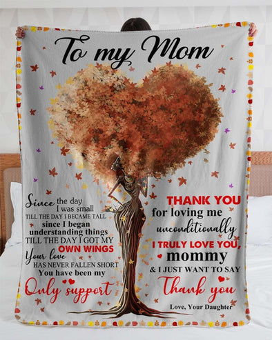 To My Mom Fleece Blanket - Daughter Just Want To Say Thank You