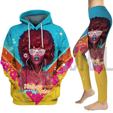 Black Girl Magic Afro Colorful Vintage All Over Apparel