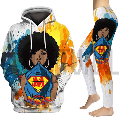 Afro Natural Black Super Mom All Over Apparel