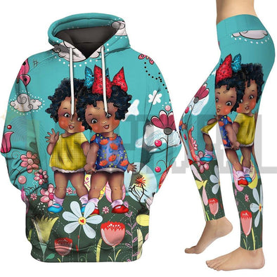Hi Friends Cute Black Kid Grow Together All Over Apparel