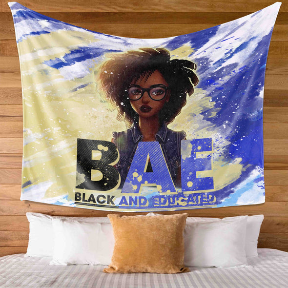 Black Girl - Black And Educate BAE Wall Tapestry