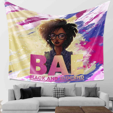 Black Girl - Black Educate Wall Tapestry
