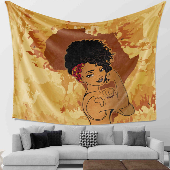 Black Girl Magic - Africa Strong Women Wall Tapestry
