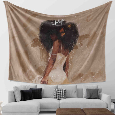 Black Naptural Art - True Beauty ! Go Queen Wall Tapestry