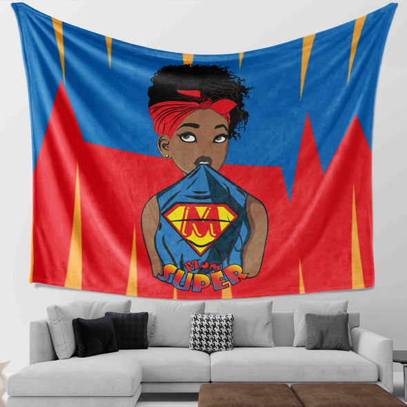Natural Hair Loves Art - Headwrap Super Mom Wall Tapestry