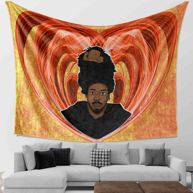 Black Father Art - Endless Love Dreadlock Daddy Wall Tapestry