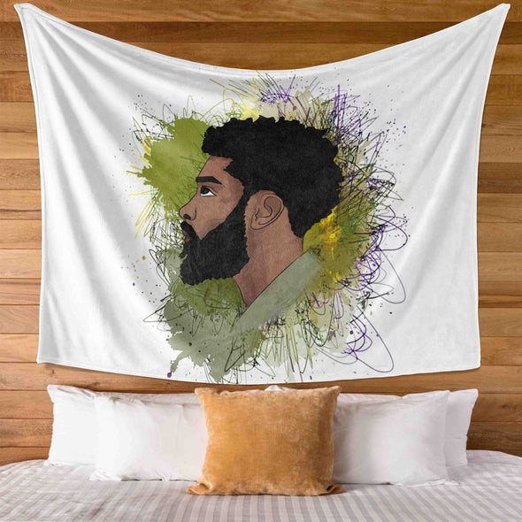 Artwork African Men - I'm A Faithful Brave Black Man Wall Tapestry