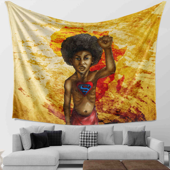 Save The Africa - Pride African Strong Super Black Kid Wall Tapestry