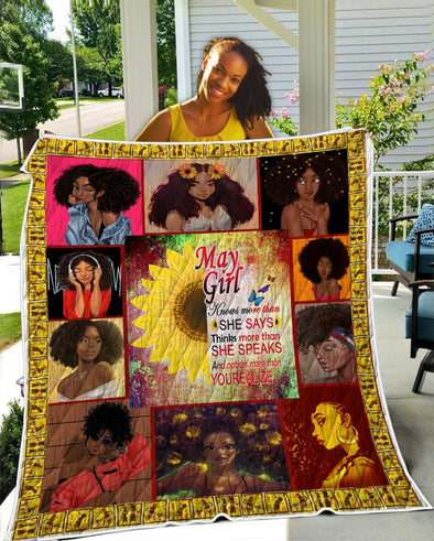May Girl She Says She Speaks Yourealize Quilt