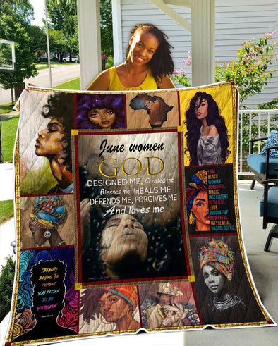 June Women GOD Designed Me Quilt