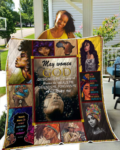 May Women GOD Designed Me Quilt