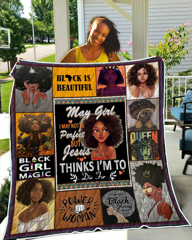 May Girl Black Is Beautiful Quilt