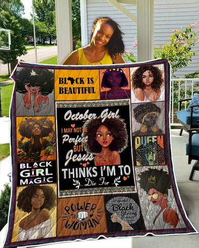 October Girl Black Is Beautiful Quilt