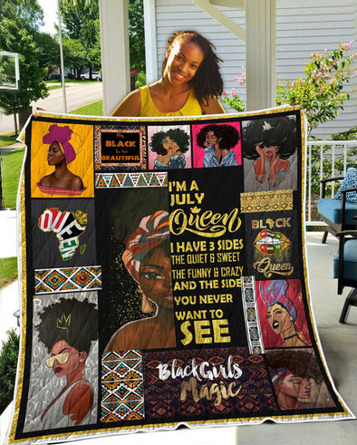 I'm A July Queen Black Beautiful Quilt