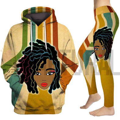 Black Women Dreadlock All Over Apparel
