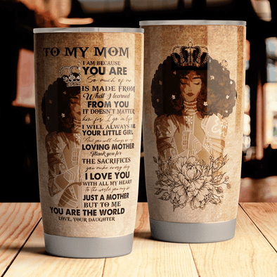 Queen Crown Loving Mother Daughter To My Mom Tumbler