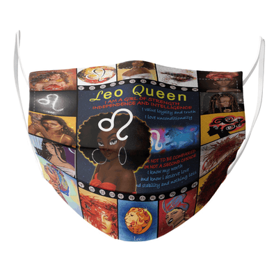 Leo Queen Black Face Mask