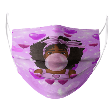 Black Baby Art - Melanin Poppin Bubbly Cute Baby Face Mask