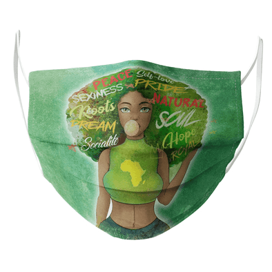 Black Women Pride Beauty Face Mask