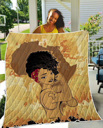 Black Girl Magic Quilt - Africa Strong Women Quilt