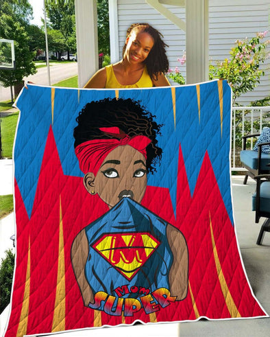 Natural Hair Loves Art Quilt - Headwrap Super Mom Quilt