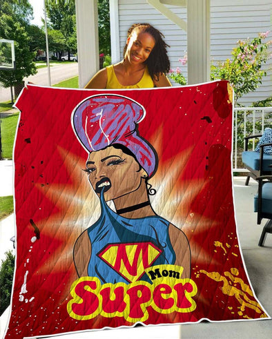 Natural Hair Daily Art Quilt - Super Mom Headwrap Gift Quilt