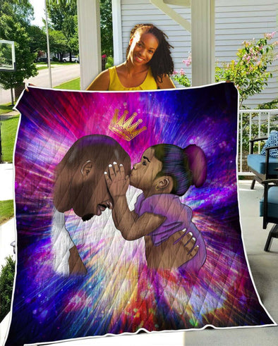 Black Daddy Products Quilt - Endless Love Father And Daughter Quilt