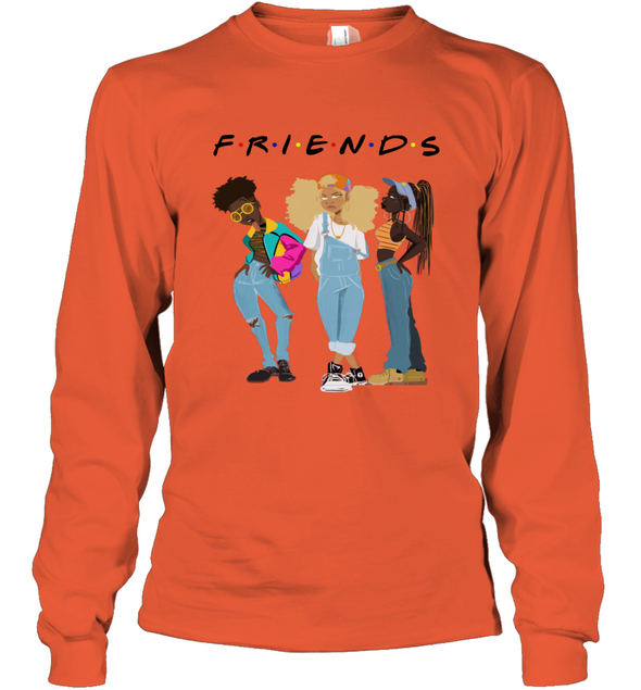 African American Black Girl Magic Friends Beauty Style Fashionable Model Long Sleeve T-Shirt
