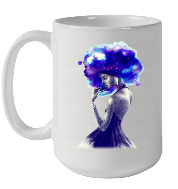 Afro Beauty Magic Girl Black Girl Magic Art Mug