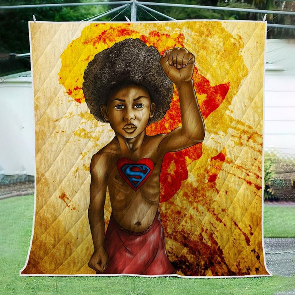 Save The Africa Quilt - Pride African Strong Super Black Kid Quilt