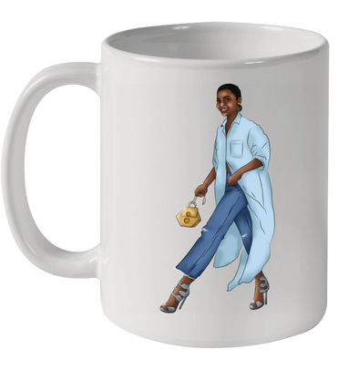 Black Women Art Keepin It Moving Modern Style Mug