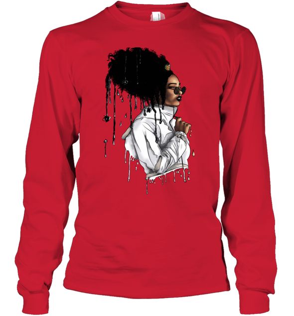 Afro African Headwrap Art - Headwrap Melting Style Youth Long Sleeve
