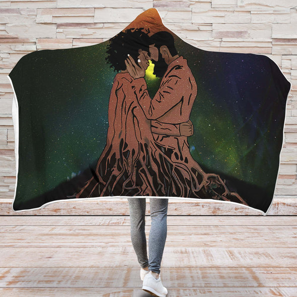 Naptural Black Couple Art - African Forever Love Roots Couple Hooded Blanket
