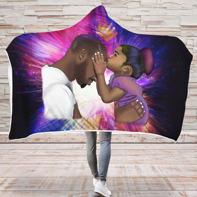 Black Daddy Products Hooded Blanket - Endless Love Father And Daughter Hooded Blanket