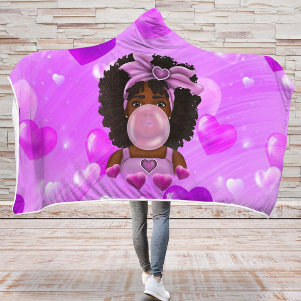 Baby Melanin Poppin Art Hooded Blanket - Melanin Poppin Bubble Cute Baby Hooded Blanket